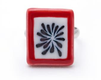 Firework 3 of  Firework Season ( White porcelain ring ) free shipping