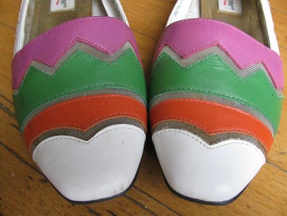 Vintage colorblock shoes LJ Simone 8 Euro 39 80s