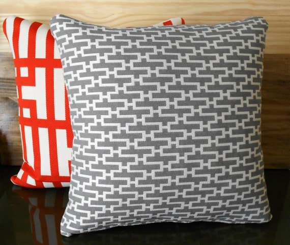 Reserved for Erica,  Modern gray geometric throw pillow cover