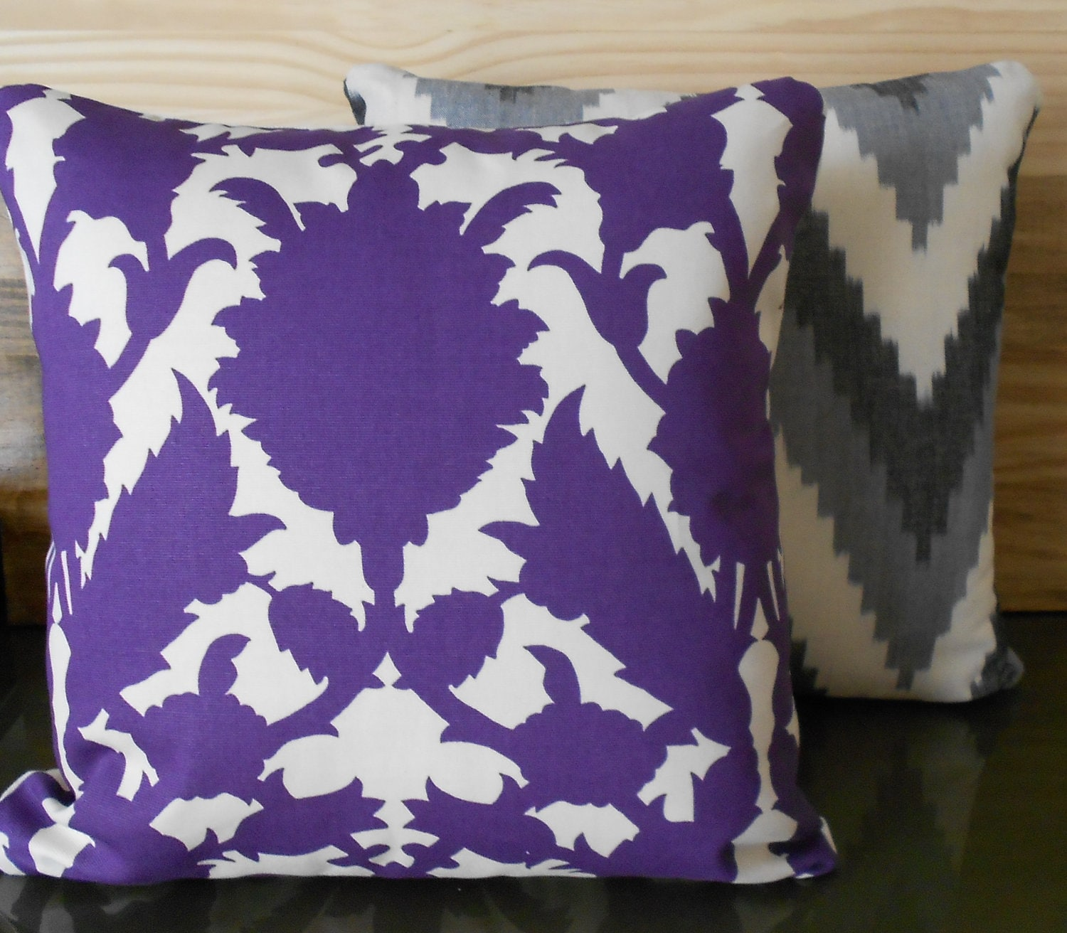 Modern Purple Floral Decorative Pillow Cover By Pillowflightpdx