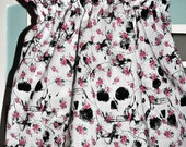 Custom Order for Shelley Baby girls sundress- floral skull pattern.