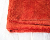 Vintage orange short pile Plush (viscose) for making aged teddy bear or fox