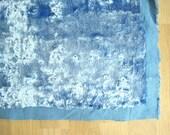 Vintage light blue Plush (viscose) for making teddy bears