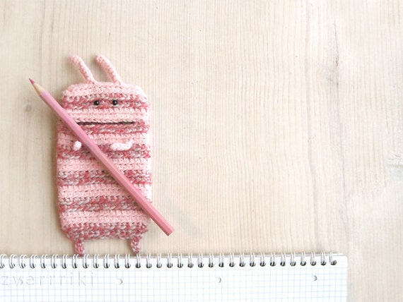 1 Case PhoneEater to Oder Gently Pink for girl Light beige school free shipping