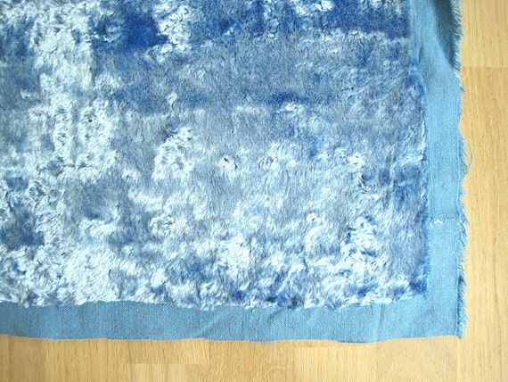 Vintage light blue Plush (viscose) for making teddy bears
