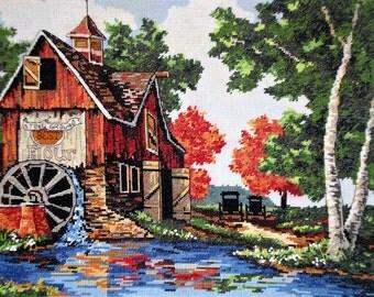 Cross Stitch - Country Mill - Unframed