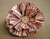 Jigsaw flower hair clip