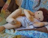 Newborn Waldorf doll newborn baby - fits newborn clothes