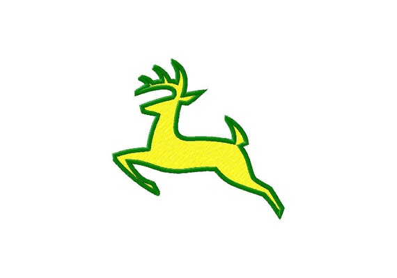 John Deere Emblem Embroidery Designs : Items similar to john deere deer logo applique and filled