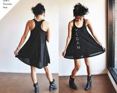 Vegan Clothing : Black Baby Doll Jersey Dress (Size S)