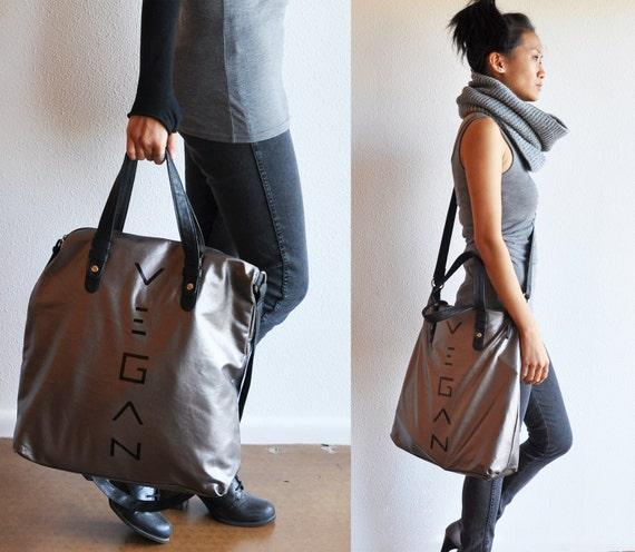 Vegan Accessories: Metallic Hobo Bag