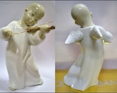 Vintage Lladro Porcelain Angel Chino Chinese Angel Collectible Lladro Angel Retired