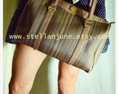 Vintage Givenchy Paris Doctor Bag Satchel Purse Brown leather Trim Vintage Chanel Gucci YSl dior Lancel