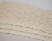 Rebecca Baby Blanket Nature 100% Merino Wool Worldwide Shipping Included