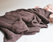 Isak Baby Blanket Brown 100% Merino Wool Including Worldwide Shipping