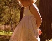 Sweet Pea Dress in Pale Butterflies