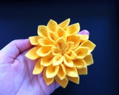 Yellow Dazzling Dahlia Brooch