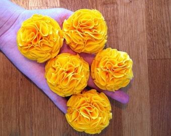 Sunshine Yellow Garden Pinks Brooch