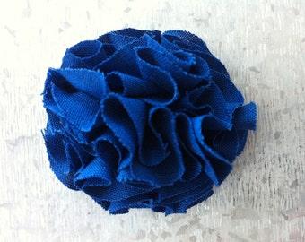 Marine Blue Garden Pinks Brooch
