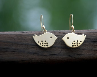 Love Birds Earrings (Gold)
