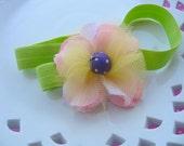 Clearance SALE Baby Flower Headband Stretch Flower Headband Toddler Headband Girls Pink Green Purple