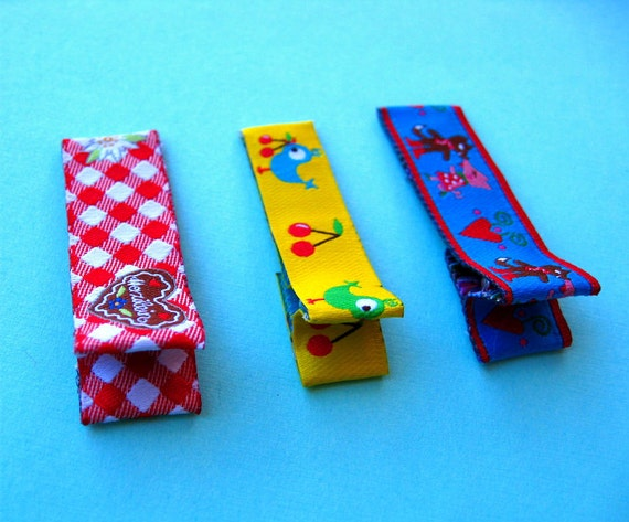 Oktoberfest Hair Clips Ribbon Hair Clips for Kids Toddler Girl Clippies Bows