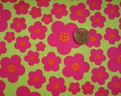 Fabric Clearance SALE  Free SHIPPING Pink Flowers  fabric yard -Raspberry Blossoms DC4360 - Michael Miller