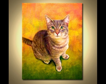 Custom Cat Portrait - your pet, my crazy RISK FREE portrait offer