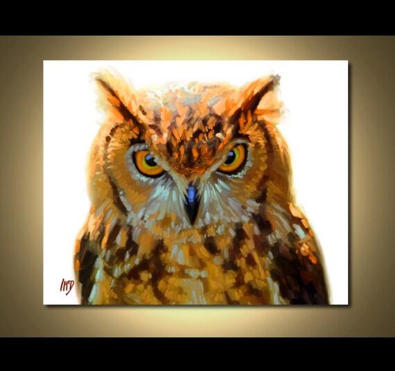 Owl Print - Owl Art Print 8x10 - Owl Painting