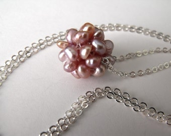 Millano Cluster Pearl Necklace, Beadwork Necklace