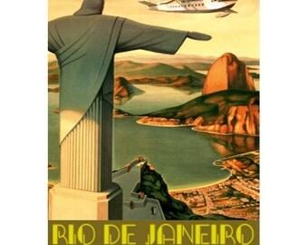 RIO DE JANEIRO 5- Handmade Leather Wall Hanging - Travel Art