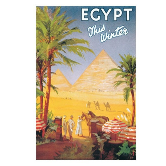 EGYPT 7- Handmade Leather Wall Hanging - Travel Art