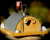 Reserved for Marjorie - SALE - Quonset Hut Birdhouse - Support Our Troops  - FREE SHIP