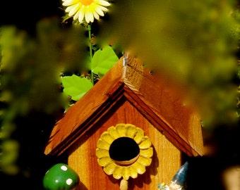 Gnome's Springtime Birdhouse