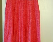 Red and White Round Neck Dress