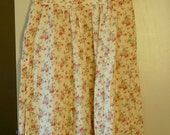 Pale Yellow Floral Round Neck Dress