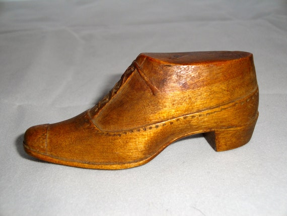 Antique Miniature Shoe Whimsey 3""