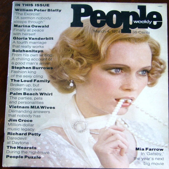 First Edition People Magazine Vintage Mia By Gaylesjewelryshop