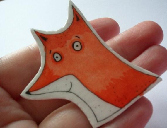 Fox Brooch Pin