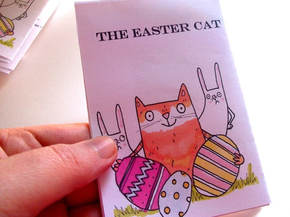 Mini Zine The Easter  Cat