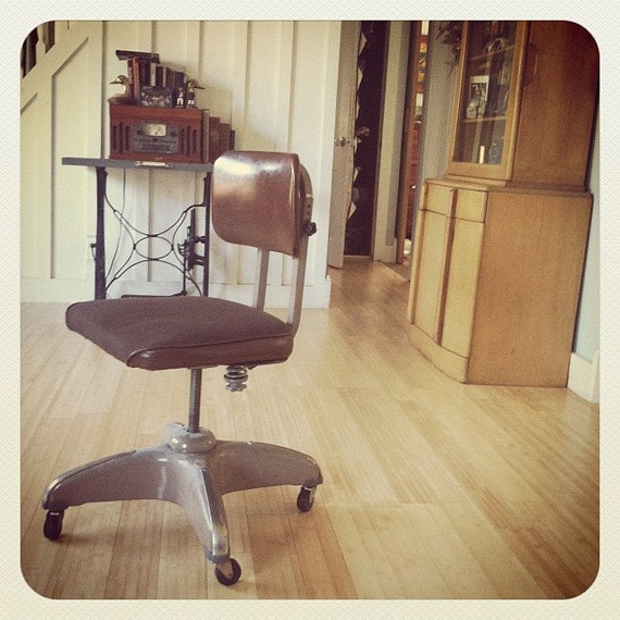 SALE Mid Century Modern Industrial Office Chair