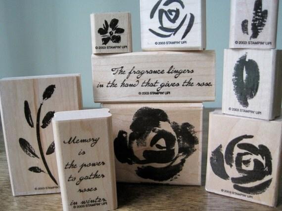 Roses in Winter Stampin Up Stamp Set
