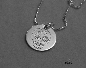 El Dia De Los Muertos or Sugar Skull Necklace