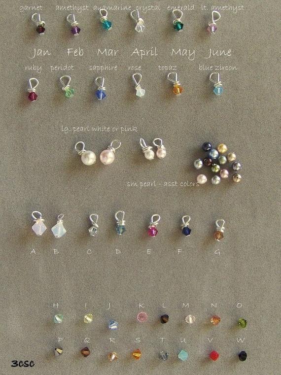 a la carte   Swarovski hand wrapped crystals or pearls
