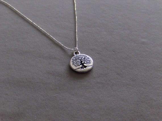 Beautiful Tree of Life Necklace in Silver or Gold