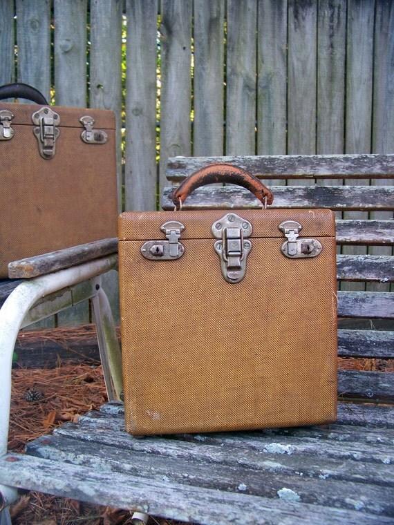 Vintage Record Box 10 Inch 78 Rpm Storage Case