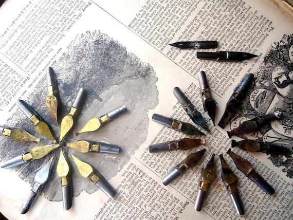 Vintage Brass Pen Nibs