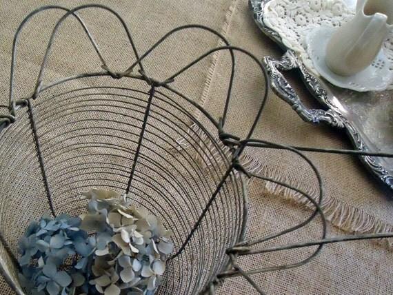 Wire Salad Spinner - Vintage Rustic Metal
