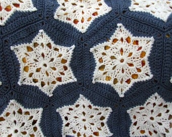 Crochet Pattern - Starry Night Throw - PDF