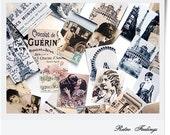 Retro Vintage Handmade Stickers Meet in Paris set of 20